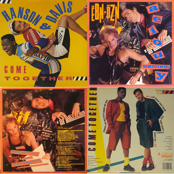 Record covers from Hanson & Davis and Ēbn-Ōzn