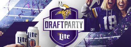 vikes3 420x150 Minnesota Vikings to host Miller Lite Draft Party at U.S. Bank Stadium