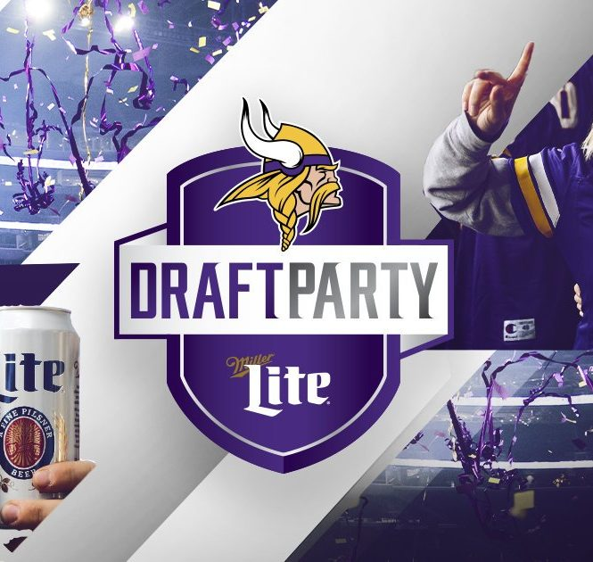 vikes3 665x630 Minnesota Vikings to host Miller Lite Draft Party at U.S. Bank Stadium