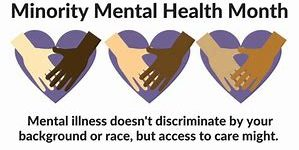 Minority Awareness 1 299x150 July 8th -July is Minority Mental Awareness Month on Health Notes