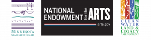 Minnesota State Arts Board Logo, National Endowment for the Arts Logo, Clean Water Land & Legacy Amendment Logo