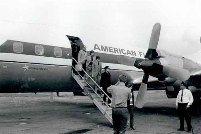 The Beatles arrived at the Minneapolis-Saint Paul International Airport, August 1965, Courtesy of the Minnesota Historical Society.
