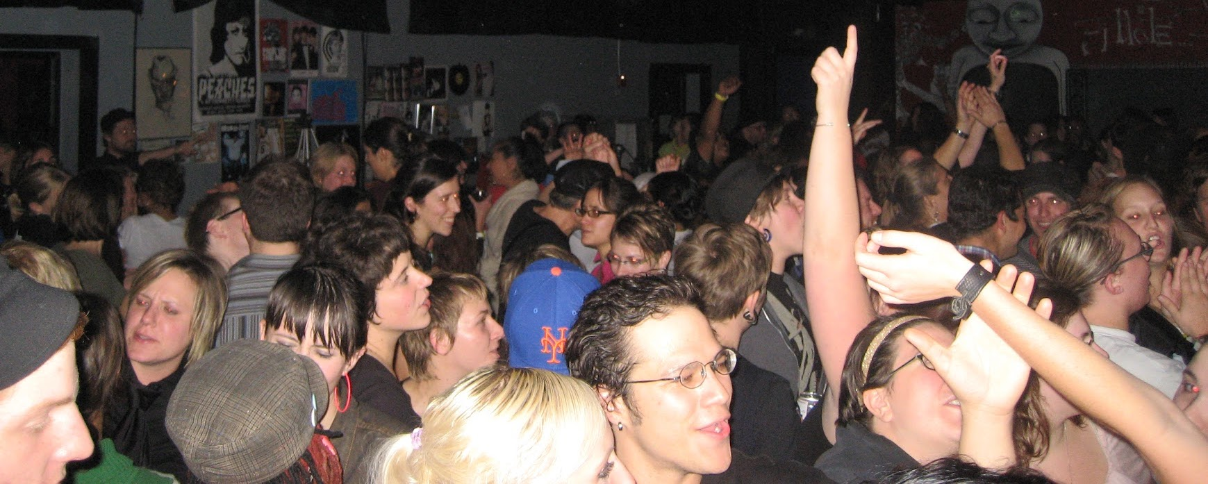 Patrons of Pi Bar fill the crowded dance floor
